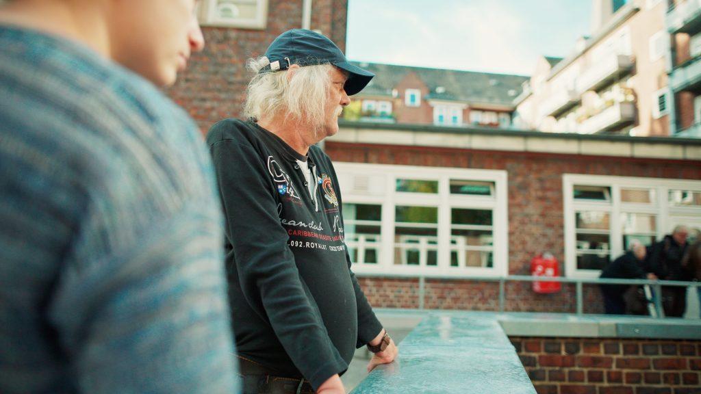 Mit Rainer bei der Hinz&Kunzt für den Film AMI